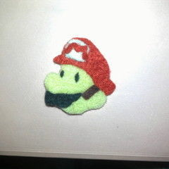 Paper Mario Felt Pin Badge