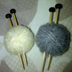 Quirky Ball Of Wool Brooch