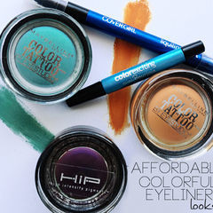 Affordable Colorful Eyeliner Looks