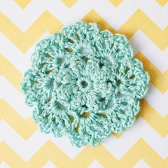 Crochet Doily Brooch