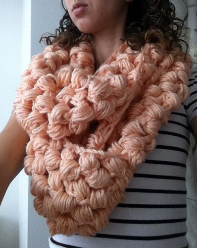Yummy Puff Stitch Scarf How To Knit A Puff Stitch Scarf