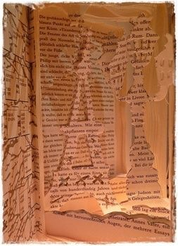 A good way to give an old book a 2nd Life :3 .  Free tutorial with pictures on how to make a piece of book art in 5 steps by papercrafting with paper, book, and cutting knife. Inspired by books and paris. How To posted by Artistically. Difficulty: 3/5. Cost: Absolutley free.