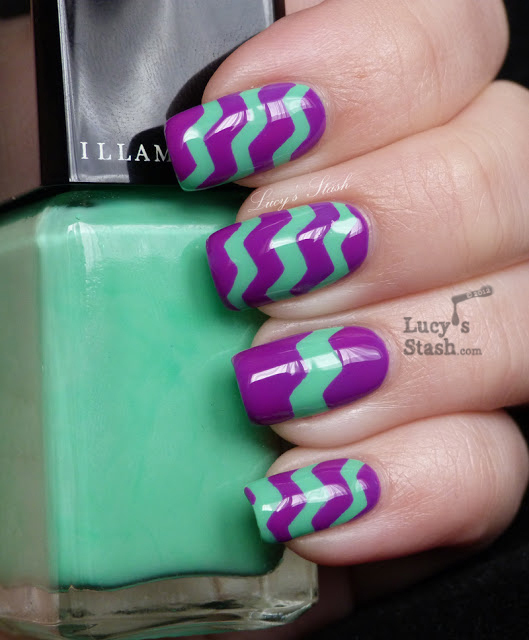 Nail Nail Art Designs Using Tape: How To Do A Zig Zag Nail Art Using Tape And Craft Scissors