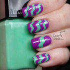 How To Do A Zig Zag Nail Art Using Tape And Craft Scissors