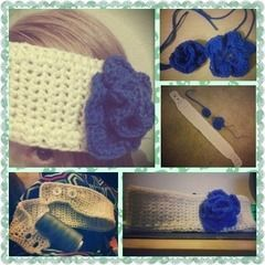 Flower Button Headband