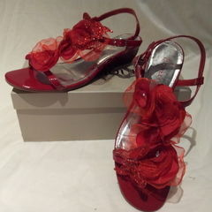 Red Floral Shoes