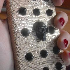 Diy Studded Iphone Case With A Skull