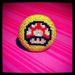 Geeky Cross Stitch Rings