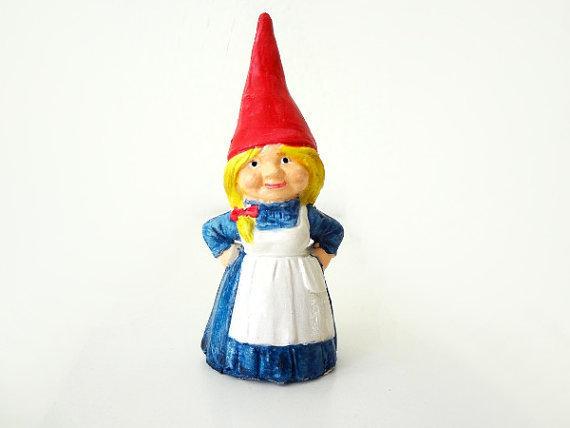 Female Garden Gnomes: Girl Garden Gnome Figurine · A Clay Gnome · Pottery On Cut
