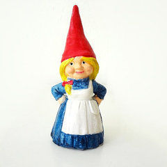 Girl Garden Gnome Figurine