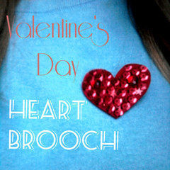 Valentine's Day Heart Brooch