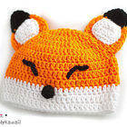 Sleepy Fox Baby Hat