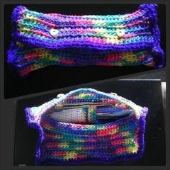 Unicorn Vomit Crochet Hook Pouch