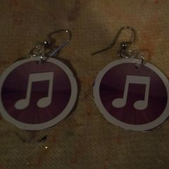 Recycled Giftcard Earrings