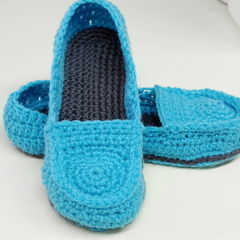 Free Crochet Pattern: Women's Loafer Slippers