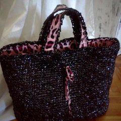 Video Tape Crocheted Bag