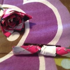 Duct Tape Floral Hair Accessories