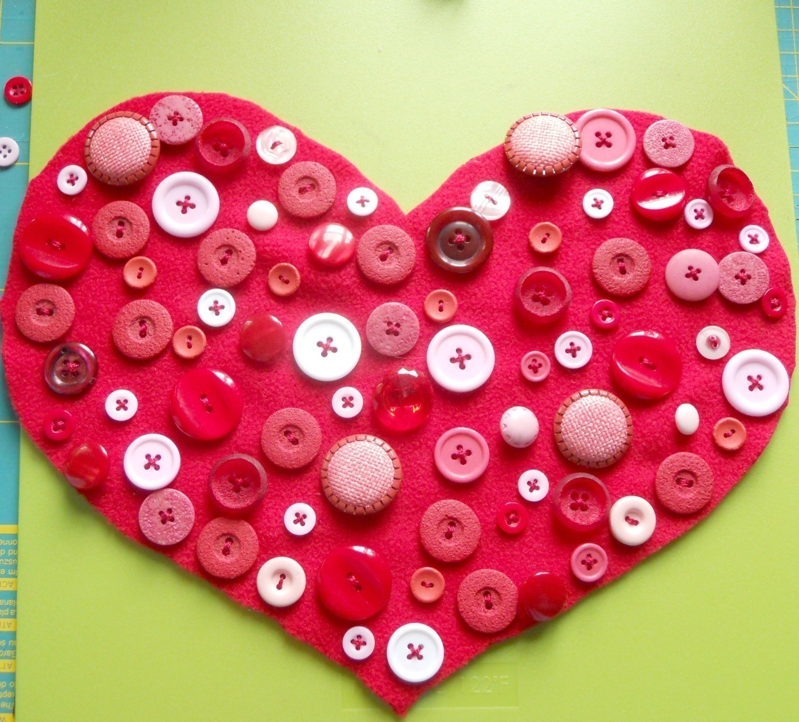 Diy Buttons Heart Pillow · How To Make A Stitched Cushion