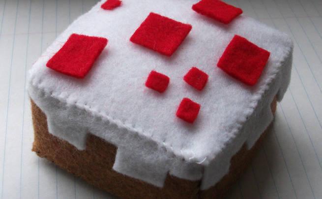 Minecraft Cake Plushie