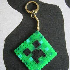 Minecraft Bead Creeper Keyring