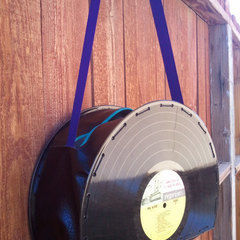 Vinyl Record Purse 12in
