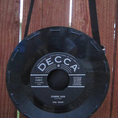 Vinyl Record Purse 7in