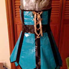 Duct Tape Strapless Corset Dress