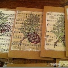 Sheet Music Christmas Cards