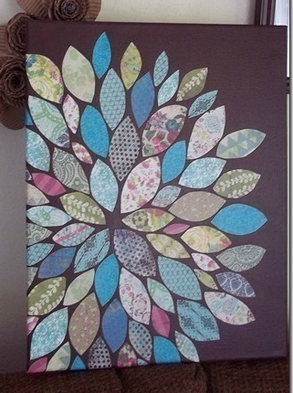 Paper Scraps Flower Wall Art 183 How To Create A Drawing Or