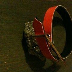 Recyled Belt Bracelet