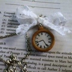 Polymer Clay Pocket Watch Necklace