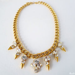Diy Crystal Spike Necklace