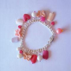 Pink Girly Beads Bracelet