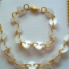 Button Hearts Gold Chain Jewellery