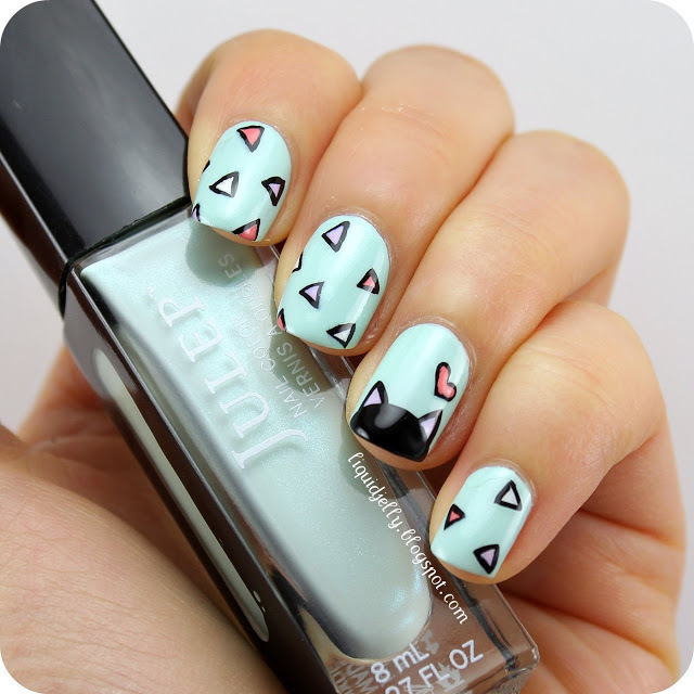 Spring Kitty Nail Art · How To Paint An Animal Nail