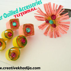 Diy Paper Quilled Earrings
