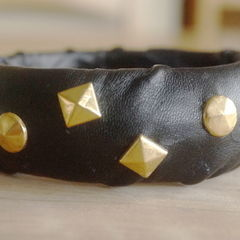 Leather And Stud Bangle