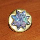 Glitter And Gold Starburst Ring