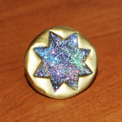 Glitter And Gold Starburst Ring