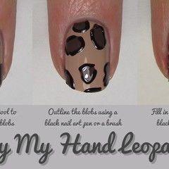 Nail Art Tutorial : Leopard Print