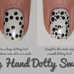 Nail Art Tutorial : Dotty Swirls