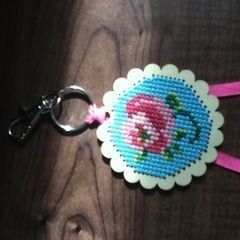 Rose Key Ring