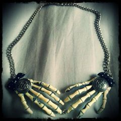 Skeleton Hand Necklace