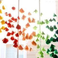 Hanging Fabric Flowers