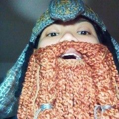 Lot R: Gimli Crochet Helm And Beard