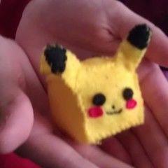 Cubed Pikachu Plushie!