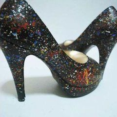 Jackson Pollock Inspired Pumps