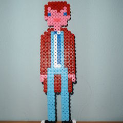 10th Doctor In Hama Beads