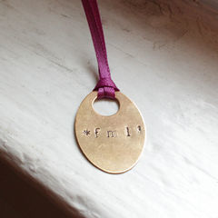 Metal Stamped Necklace