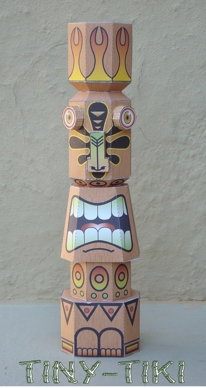 Tiki Idol Paper Toy 183 A Paper Model 183 Papercraft On Cut Out Keep